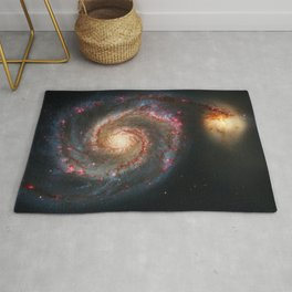 Whirlpool Galaxy and Companion Galaxy Rug