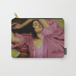 """Classical masterpiece """"Woman Stretching on Couch"""" by Emile Victor Prouvé Carry-All Pouch"""