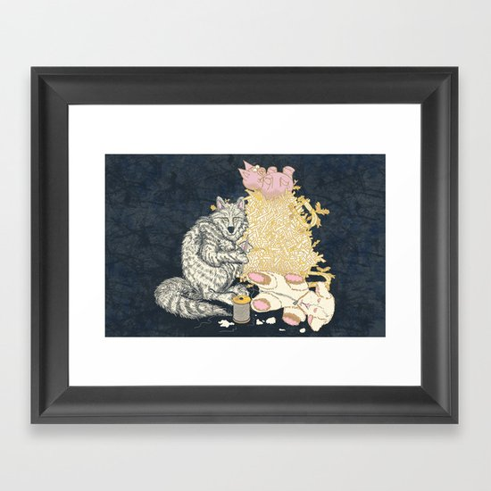 Big Bad Wolf Only Needed a Needle Framed Art Print