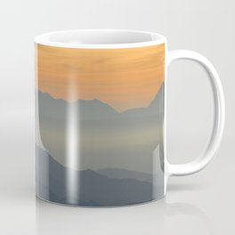 Sunset at the mountains Coffee Mug