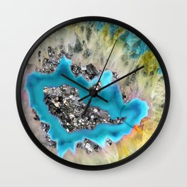 Crystal quartz rainbow Wall Clock