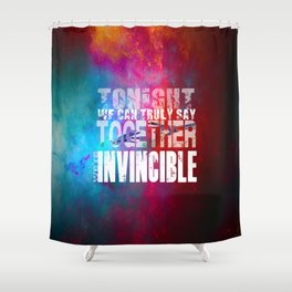 muse invincible Shower Curtain