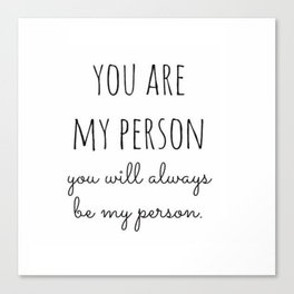 My Person Canvas Print