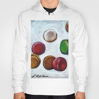 macarons Hoodies featuring Macarons by Nath Chipilova