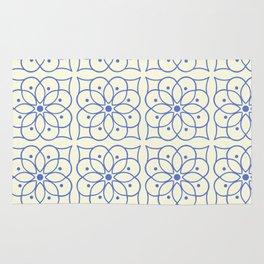 Fashion Flower Pattern Art Print Rug