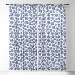 Blueberries Pattern Sheer Curtain