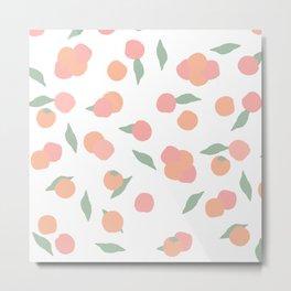 pink and orange peach pattern Metal Print