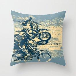 Dirt Track - Motocross Racing Throw Pillow