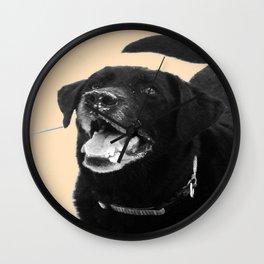 Labrador Happy Wall Clock