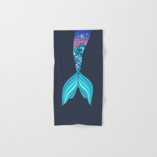 mermaid tail *ocean* Hand & Bath Towel