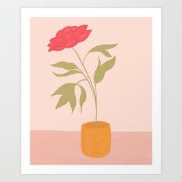 Una Flor - Single Flower In Vase Art Print