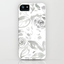Lillian Gray Floral iPhone Case