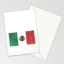 Mexican National Flag Vintage Mexico Country Gift Stationery Cards