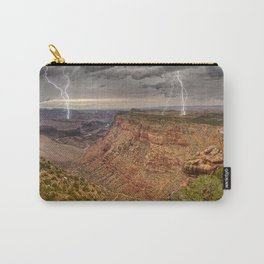 Lightning over Grand Canyon viewed from Desert View Trail Carry-All Pouch