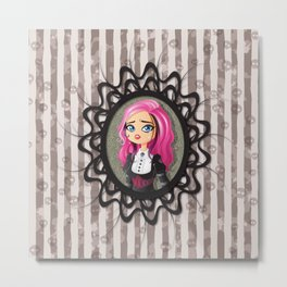 Gothic doll crying Metal Print