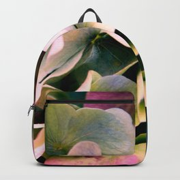 pink and green hydrangea Backpack