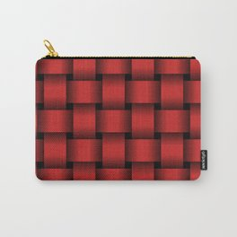Large Firebrick Red Weave Carry-All Pouch