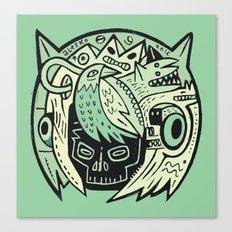 Bubble head - green Canvas Print