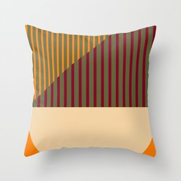 Geometric Abstract - Spring-Pantone Warm color Throw Pillow