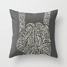 Horns Hand Throw Pillow