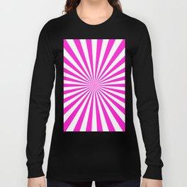 Starburst (Hot Magenta/White) Long Sleeve T-shirt