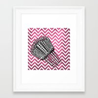 arsenal Framed Art Prints featuring Lady's Arsenal - The Comb by Ashley Anonymous