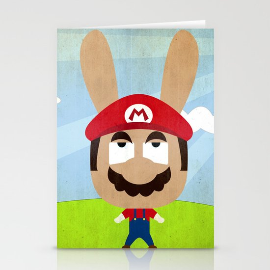 We are all rabbits \ Mario Stationery Cards