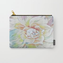 Soft Pastel Floral Expression Carry-All Pouch