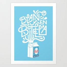 Blanco & en Botella Art Print