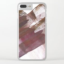 Wine brown abstract Clear iPhone Case