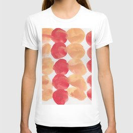 4  | 190408 Red Abstract Watercolour T-shirt