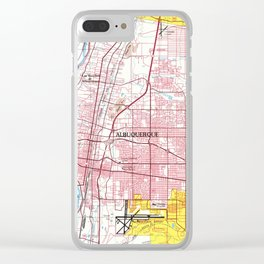 Albuquerque New Mexico Map (1978) Clear iPhone Case