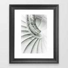 Sand stone spiral staircase 009 Framed Art Print