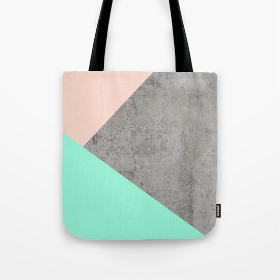 Concrete Collage Tote Bag
