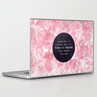 vodka Laptop & iPad Skins featuring VODKA IS CHEAPER by Wis Marvin