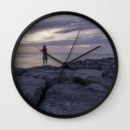 Idyllic morning Wall Clock