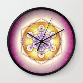 Metatron's Cube - Sun I Wall Clock