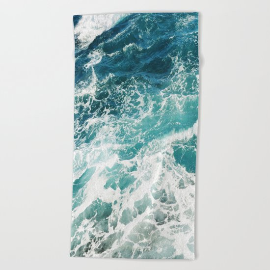 Sea Foam  Beach Towel