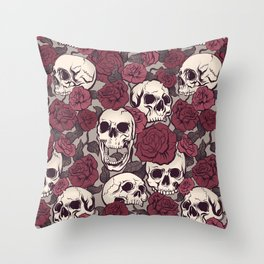 Rock and Roses Throw Pillow