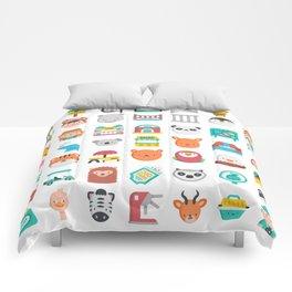 CUTE ZOO ANIMALS PATTERN Comforters