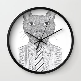 Fancy Feline Wall Clock