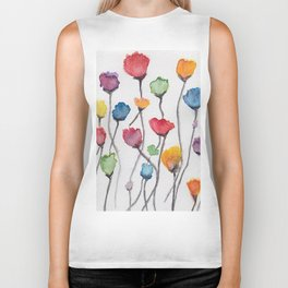 The Multiflower Biker Tank