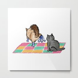 He Hates Socks - Cats 1 Metal Print