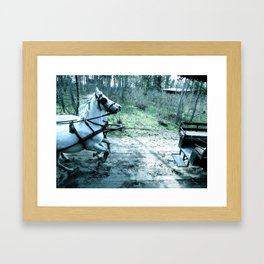 putting the cart before the horse Framed Art Print