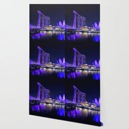 Blue Singapore by #Bizzartino Wallpaper