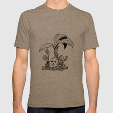 Forest Totem MEDIUM Tri-Coffee Mens Fitted Tee