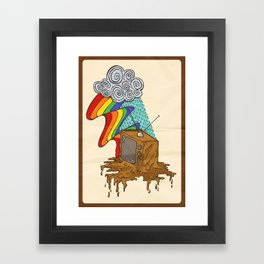 Creative Killed the Video Star Framed Art Print