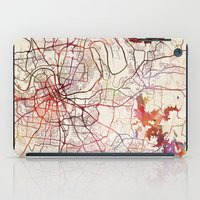 nashville iPad Cases featuring Nashville by MapMapMaps.Watercolors