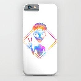 Peace Colorful Alien iPhone Case