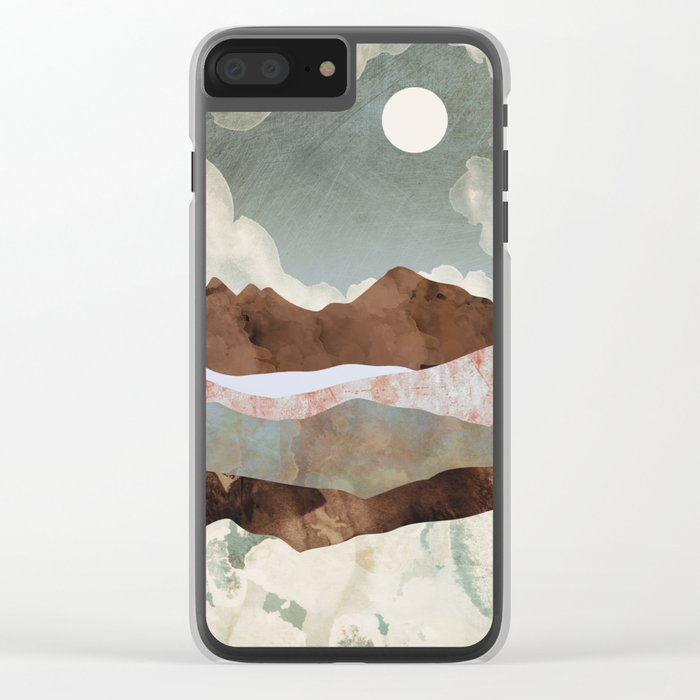 Cloudy Night Clear iPhone Case